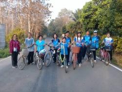 โครงการ การสร้างเสริมสุขภาพด้วยการออกกำลังการและการบริโภคอาหารตามหลักโภชนาการ(ชมรมจักรยานตำบลอ่ายนาไลย) ครั้งที่ 1